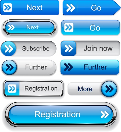 Forward blue design elements for website or app  Vector eps10  Vector
