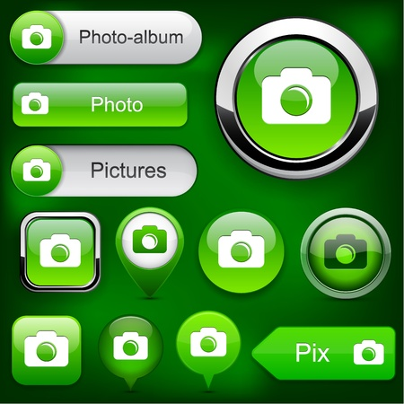 Photo green design elements for website or app  Vector eps10   Vector