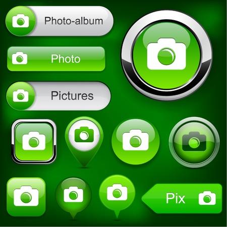 Photo green design elements for website or app  Vector eps10   Vector