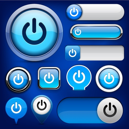 Power blue design elements for website or app. Vector eps10. Vector
