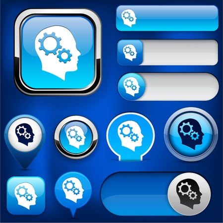 Thinking  blue design elements for website or app. Vector eps10. Vector