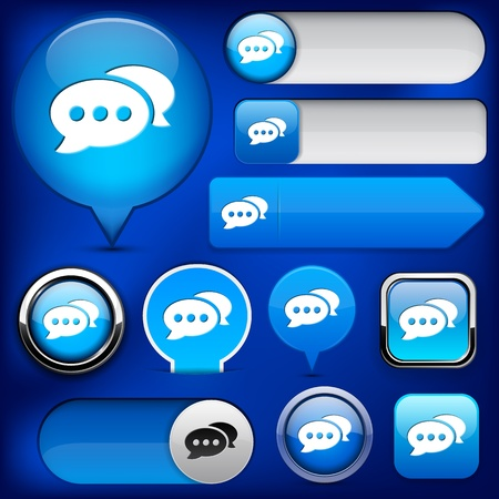 Forum blue design elements for website or app. Vector eps10. Vector