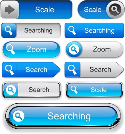 finding: Search blue design elements for website or app  Vector eps10