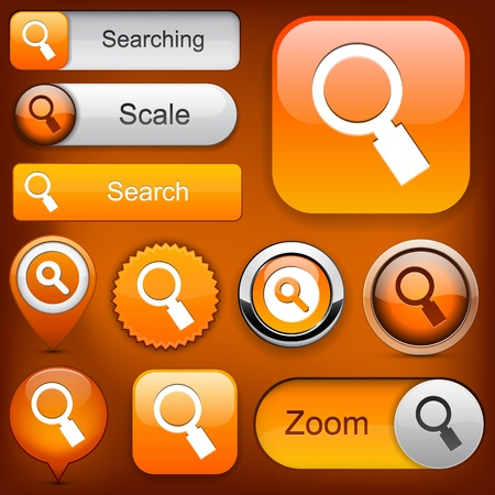 Search orange design elements for website or app  Vector eps10  Vector