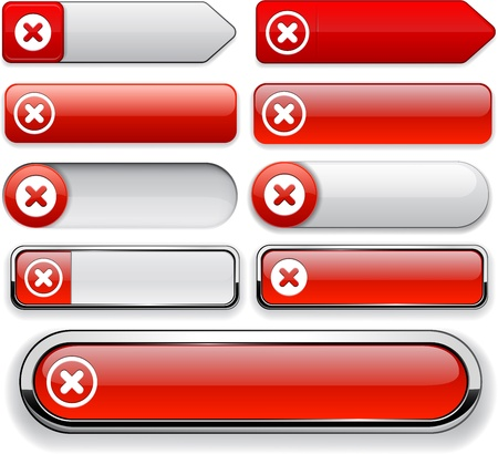 Cross red design elements for website or app  Vector eps10 Stock Vector - 12856588