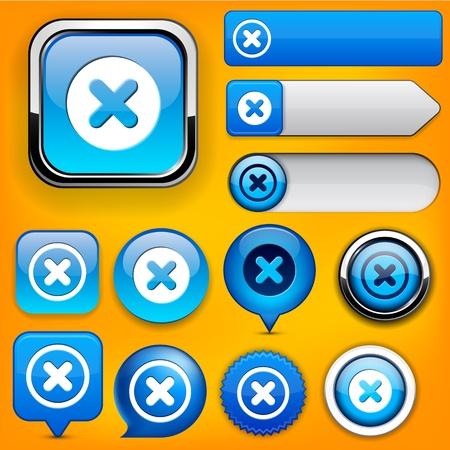 Cross blue design elements for website or app  Vector eps10 Stock Vector - 12856600