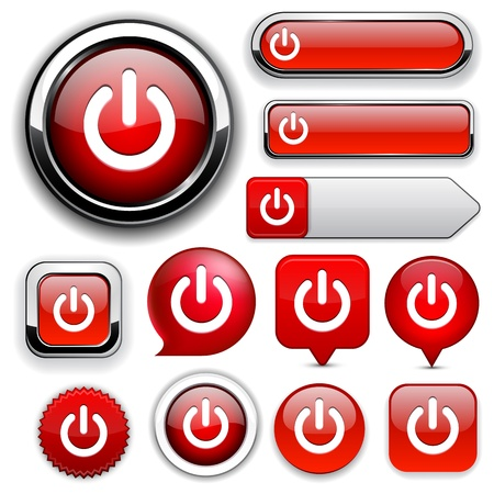 Power red design elements for website or app  Vector eps10 Stock Vector - 12856701