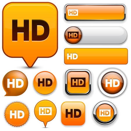 HD orange design elements for website or app  Vector eps10  Vector