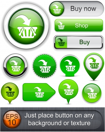 Buy web orange buttons for website or app  Vector eps10   Vector