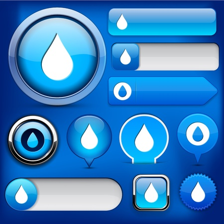 Droplet blue design elements for website or app  Vector eps10 Stock Vector - 12917706