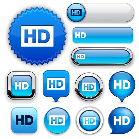 rounded squares: HD blue design elements for website or app  Vector eps10   Illustration