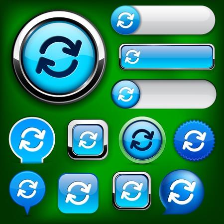 Synchronisation blue design elements for website or app. Vector eps10.  Vector