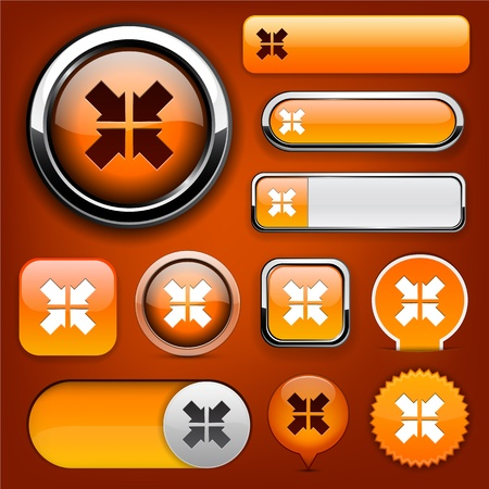 Aim orange design elements for website or app. Vector eps10.  Vector