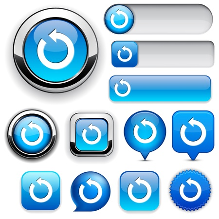 rounded squares: Rotate blue design elements for website or app. Vector eps10.