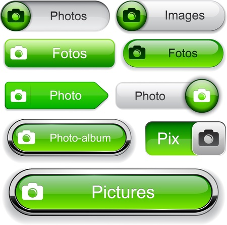 Photo green design elements for website or app. Vector