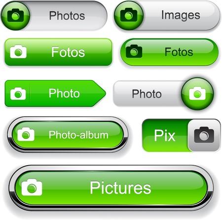 Photo green design elements for website or app. Vector