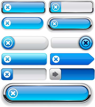 Cross blue design elements for website or app.  Vector