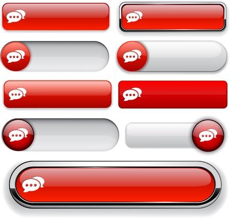 Forum red design elements for website or app. Stock Vector - 13000117