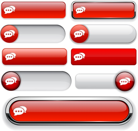 Forum red design elements for website or app.  Vector