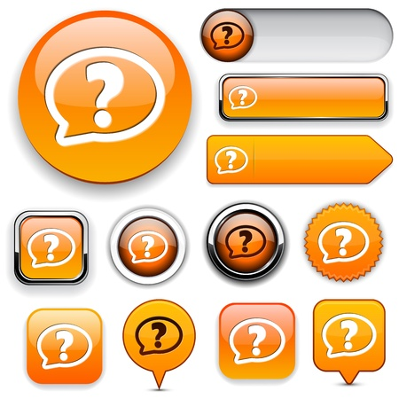 FAQ orange design elements for website or app. Stock Vector - 13000118