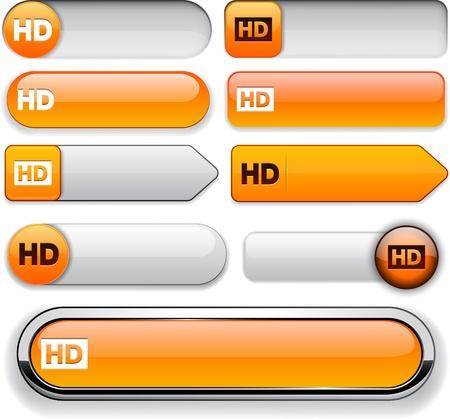 HD orange design elements for website or app. Stock Vector - 13000090