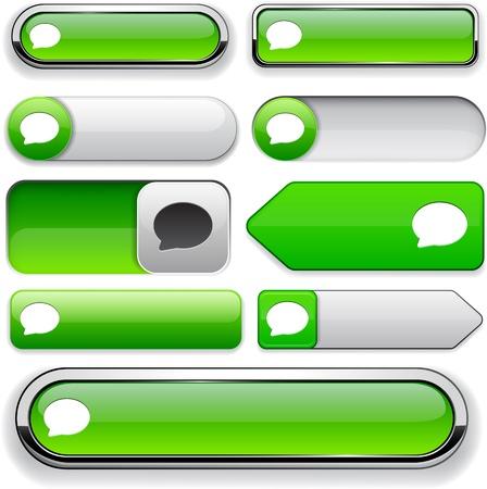 Parlez éléments de conception écologique pour le site Web ou une application Vecteurs