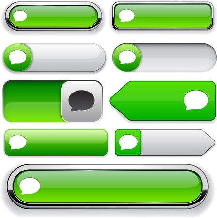 Talk green design elements for website or app Vector