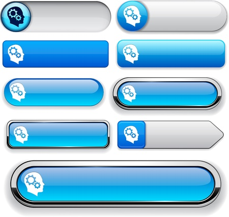Thinking  blue design elements for website or app Stock Vector - 13129000