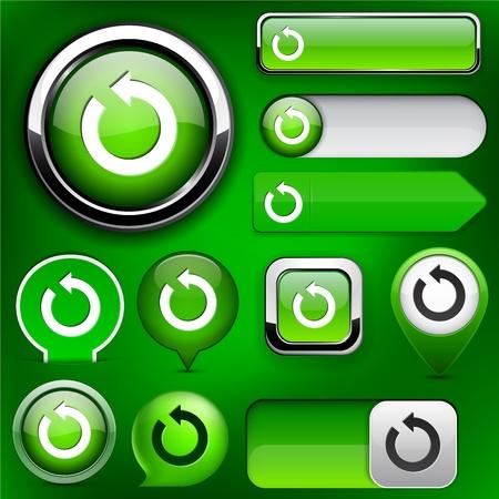 circulating: Rotate green design elements for website or app Illustration