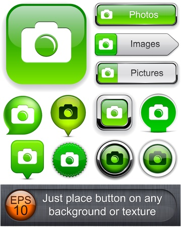 Photo green design elements for website or app Vector