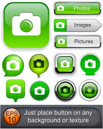 Photo green design elements for website or app