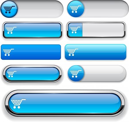 onlineshop: Buy blue design elements for website or app