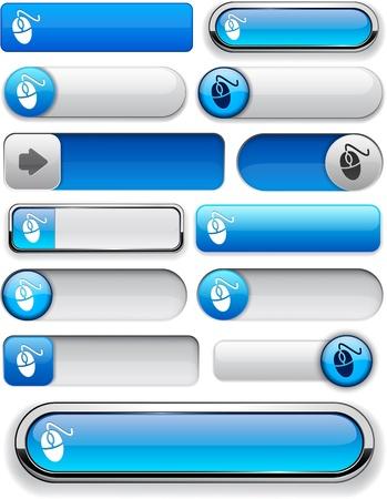Mouse blue design elements for website or app Vector
