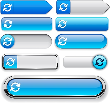 Synchronisation blue design elements for website or app Vector
