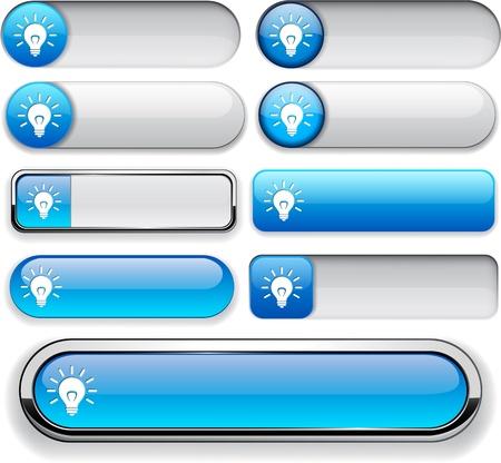 Light bulb blue design elements for website or app Vector