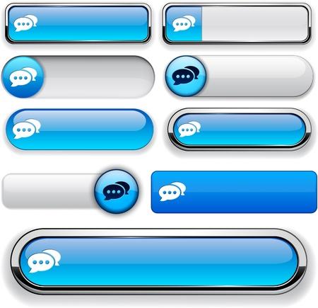 Foro azules elementos de diseño de sitio web o aplicación