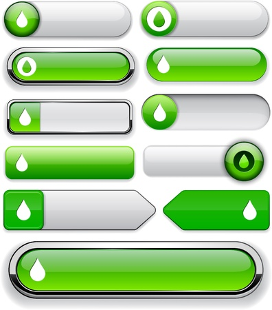 Droplet green design elements for website or app. Vector eps10.  Vector
