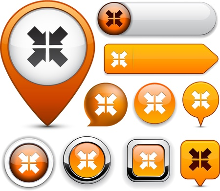 Aim orange design elements for website or app Stock Vector - 13165944