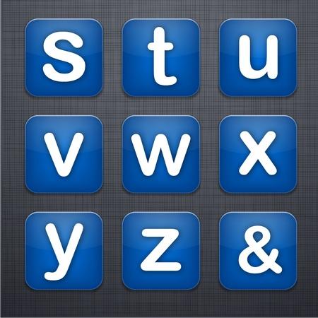 linen texture: la ilustraci�n de la carta de icono de las aplicaciones que se distribuyen en la textura de lino. Vectores