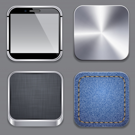 illustration of high-detailed apps template icon set. Vector