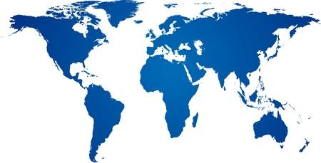 world maps: illustration of high-detailded world map