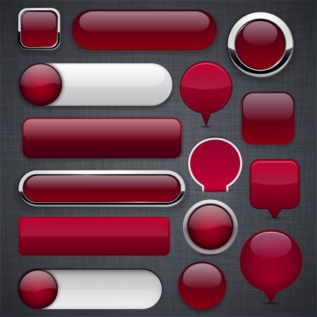 buttons: Vuote di vino rosso pulsanti web per il sito web o un'applicazione