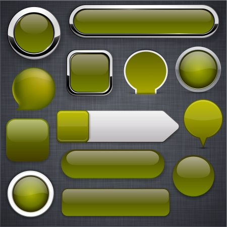 Blank mossy web buttons for website or app   Illustration