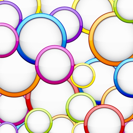 abstract background contains of colorful glossy bubbles   Stock Vector - 14480233