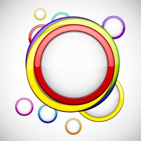 resumen de antecedentes contiene burbujas de colores brillantes Ilustración de vector