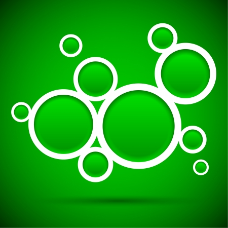 Abstract green background contains of round bubbles Stock Vector - 14518228