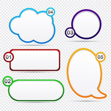 Modern speech bubbles for option or choice. Stock Vector - 14518233