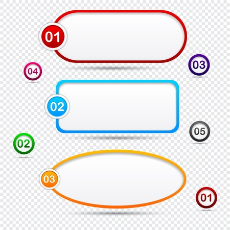 Modern speech bubbles for option or choice.   Vector