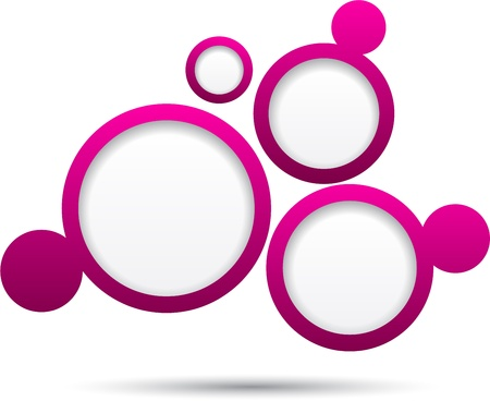 Abstract magenta background contains of round bubbles. Stock Vector - 14572784