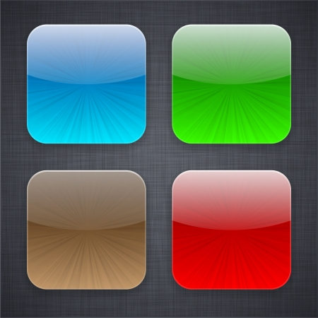 illustration of high-detailed apps icon templates.  Vector